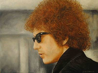 Poster featuring the painting Bob Dylan IIi by David Dunne