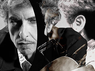 Bob Dylan Poster by Marvin Blaine
