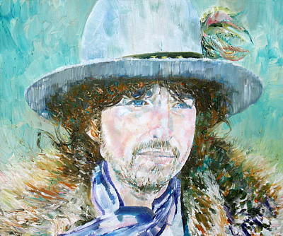 Bob Dylan Oil Portrait Poster by Fabrizio Cassetta