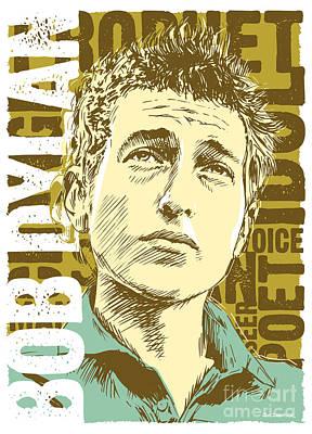Bob Dylan Pop Art Poster by Jim Zahniser