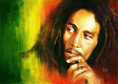 Bob Marley Poster by Cool Canvas