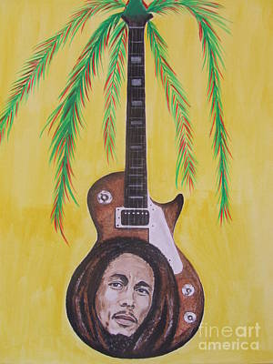 Poster featuring the painting Bob Marley by Jeepee Aero