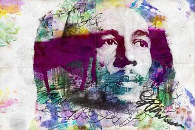 Bob Marley One Love Poster by Jonas Luis