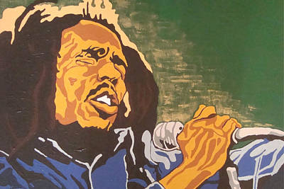 Poster featuring the painting Bob Marley by Rachel Natalie Rawlins