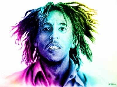 Bob Marley  Rainbow Effect Poster