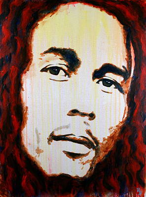 Poster featuring the painting Bob Marley Reggae Icon by Bob Baker