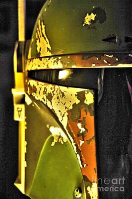Boba Fett Helmet 140 Poster by Micah May