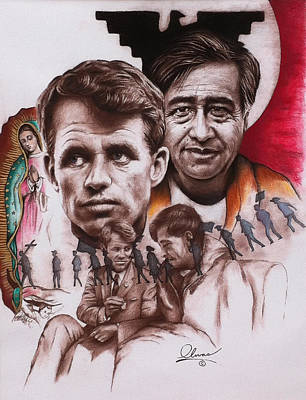 Bobby And Cesar Poster by Bill Olivas