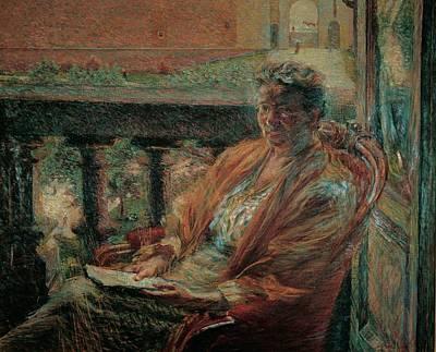 Boccioni Umberto, Portrait Of Mrs Meta Poster