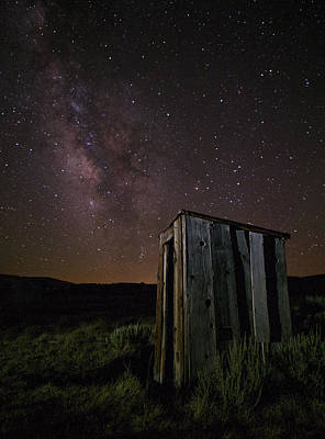 Bodie California Outhouse And Milky Way Poster
