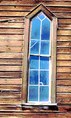 Poster featuring the photograph Bodie Church Window by Mary Bedy