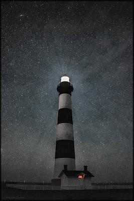 Bodie Island Light Midnight Poster