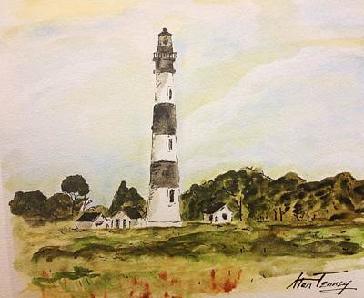 Poster featuring the painting Bodie Island Light by Stan Tenney