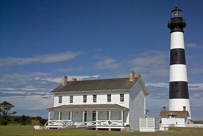 Poster featuring the photograph Bodie Lighthouse Obx by Greg Reed