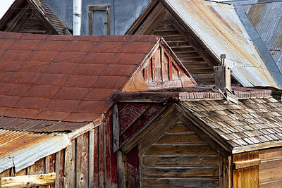 Poster featuring the photograph Bodie Rooflines by Jim Snyder