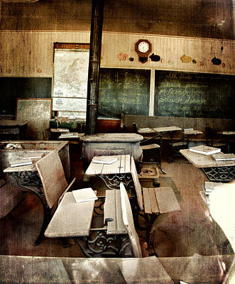 Poster featuring the photograph Bodie School Room by Lana Trussell