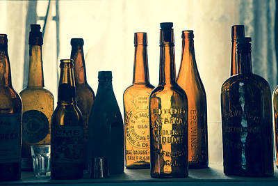 Poster featuring the photograph Bodies Bottles by Jim Snyder
