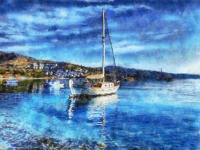 Bodrum Bay In Turkey Poster