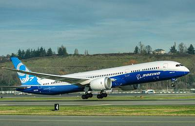 Boeing 787-9 Gets Airborne Poster by Jeff Cook