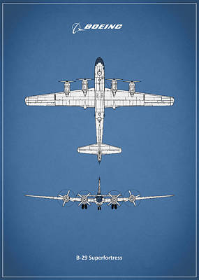 Boeing B-29 Poster by Mark Rogan