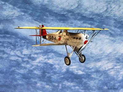 1920s Biplane Poster by Susan Savad