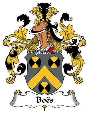 Boes Coat Of Arms German Poster