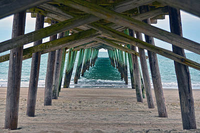 Bogue Banks Fishing Pier Poster