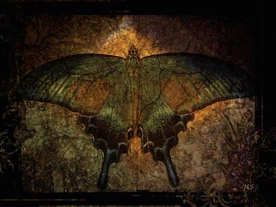 Bohemia Butterfly - Art Nouveau Poster by Absinthe Art By Michelle LeAnn Scott