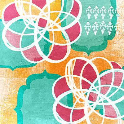 Boho Floral 1 Poster by Linda Woods