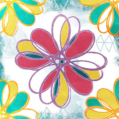 Boho Floral 2 Poster
