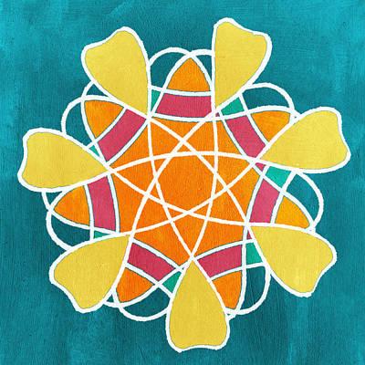 Boho Floral Mandala Poster by Linda Woods