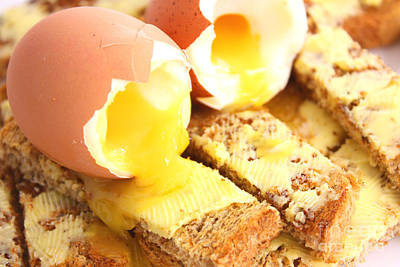 Boiled Eggs On Buttered Toast  Poster