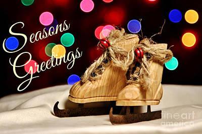Bokeh Skates Card Poster