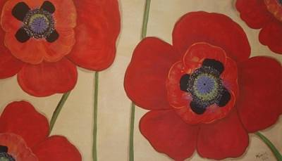 Bold Poppies Poster by Cindy Micklos