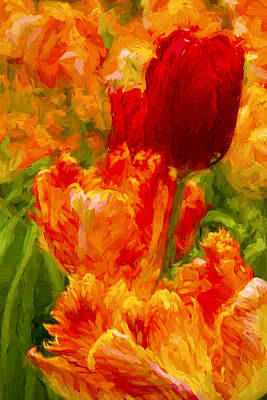 Bold Tulips Poster by Paul W Faust -  Impressions of Light