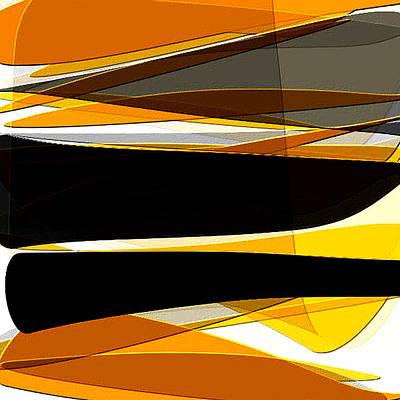 Bold- Yellow Orange Black And Gray Art Poster