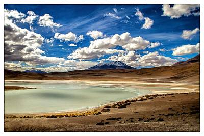 Bolivia Lagoon Clouds Framed Poster by For Ninety One Days