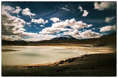 Bolivia Lagoon Clouds Vintage Poster by For Ninety One Days
