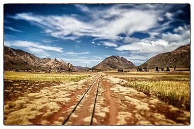 Bolivia Train Tracks Poster