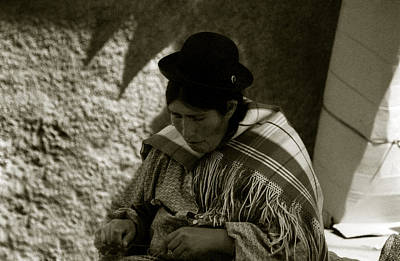 Poster featuring the photograph Bolivian Woman by Amarildo Correa
