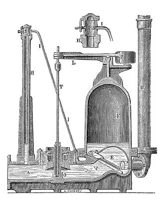 Bollee Hydraulic Ram Poster by Science Photo Library