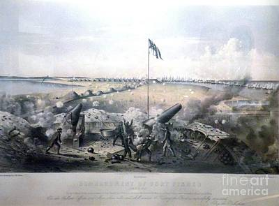 Bombardment Of Fort Fisher Poster by Celestial Images