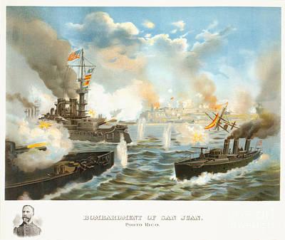 Bombardment Of San Juan - Porto Rico - 1898 Poster by Pablo Romero