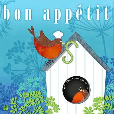 Bon Appetit Poster by Valerie Drake Lesiak
