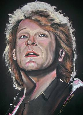 Poster featuring the pastel Bon Jovi by Peter Suhocke