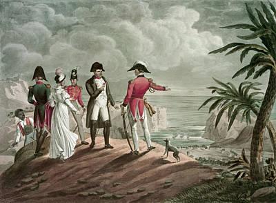 Bonaparte On St. Helena Steel Engraving Poster