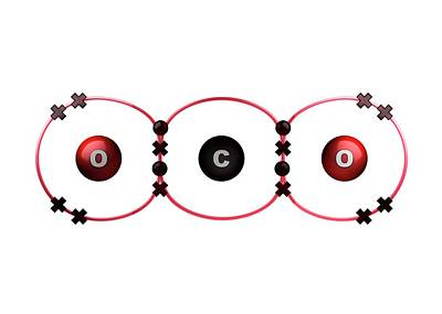 Bond Formation In Carbon Dioxide Molecule Poster by Animate4.com/science Photo Libary