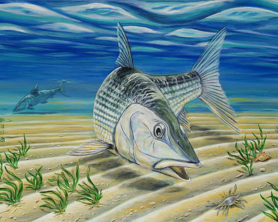 Bonefish On The Flats Poster by Steve Ozment