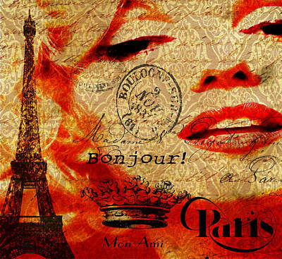 Bonjour Marilyn Poster by Greg Sharpe