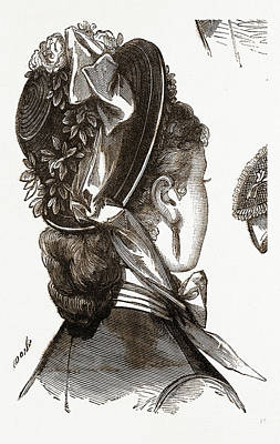 Bonnet, Fashion, Needlework Poster